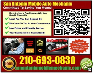 Mobile Mechanic Schertz Texas Auto Car Repair Service shop on wheels
