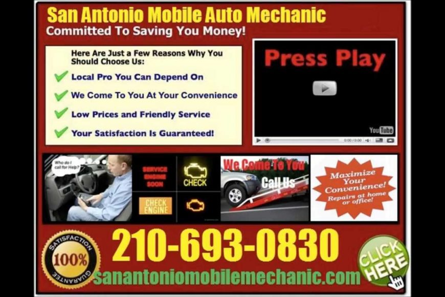 San Antonio Mobile Mechanic Auto Car Repair Service | Pre Purchase Vehicle Inspection